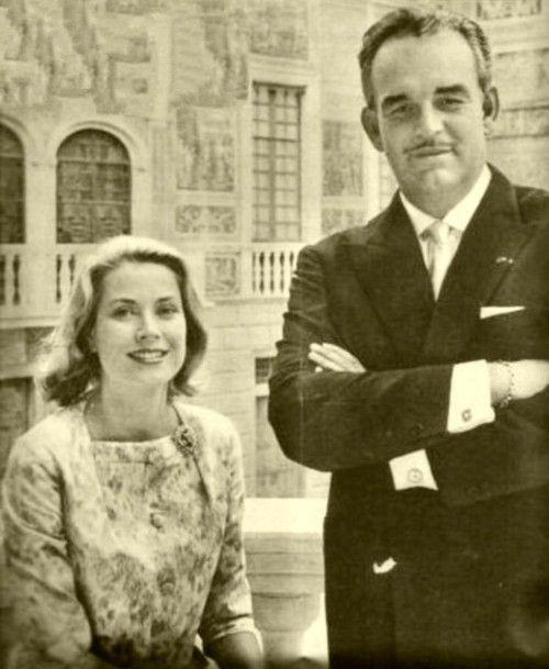 Principessa Grace con il Principe Ranieri di Monaco a Monaco 1959