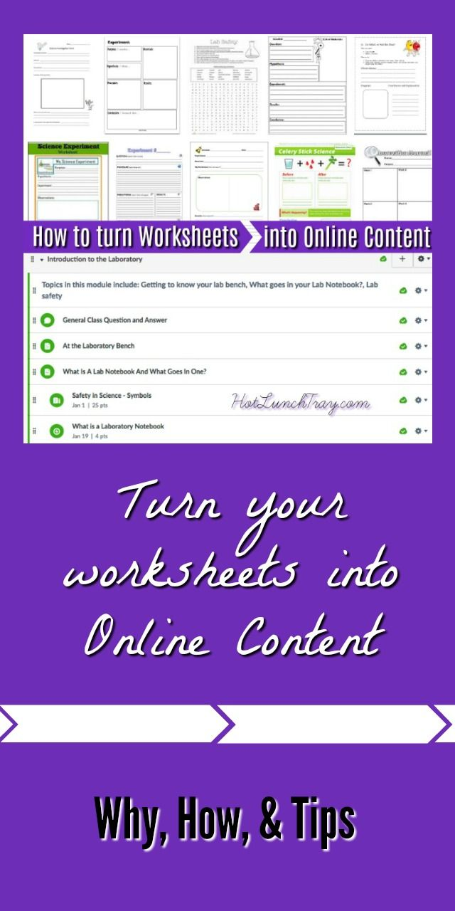 How to Turn Worksheets into Online Content