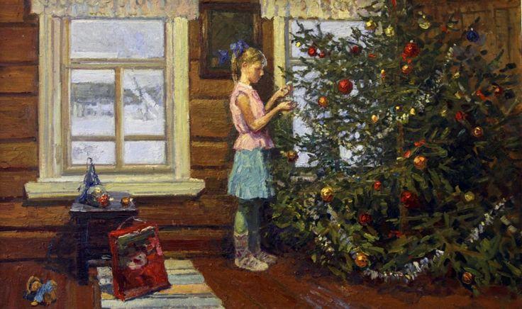 Ирина Владимировна Рыбакова (род. 1962) Новогодняя елка. 2011 г. (Irina Rybakova - Christmas tree)