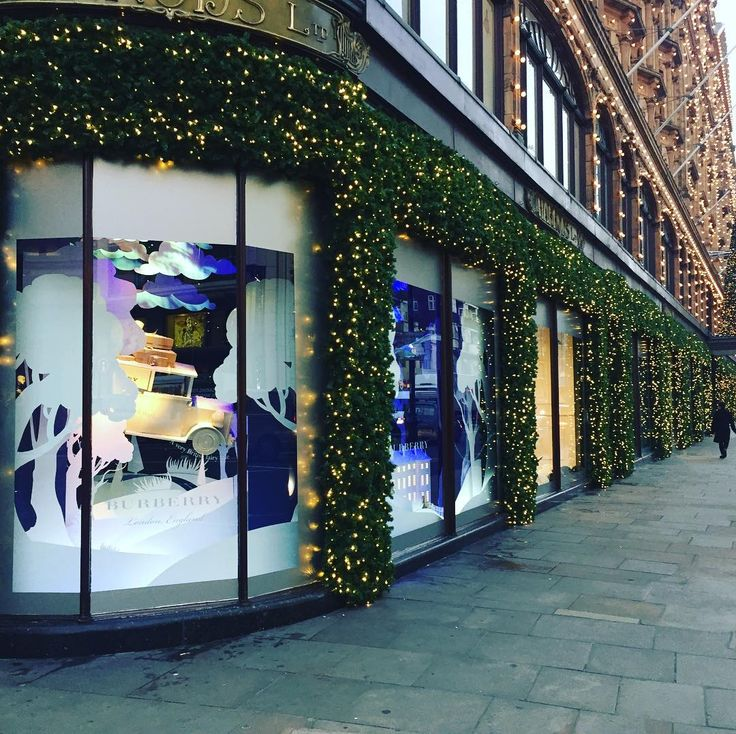 "HARRODS, London, UK, ""Christmas has officially arrived at Harrods"", pinned by Ton van der Veer"