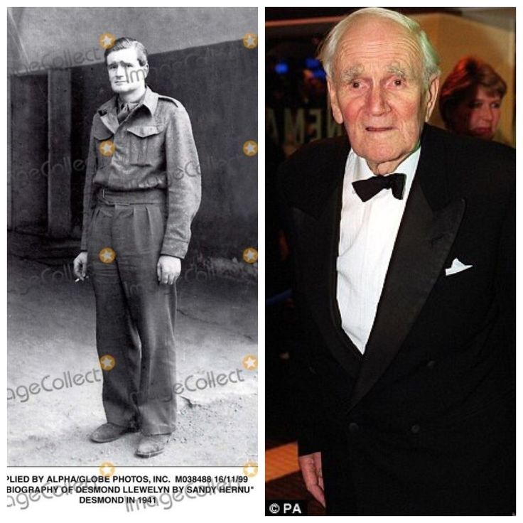 Desmond Llewelyn-WW2-Spent 5 years in Colditz POW camp. Interesting Life story. (Actor)