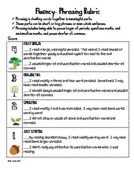 7 best oral reading fluency images on pinterest teaching reading fluency rubric for phrasing fandeluxe Images