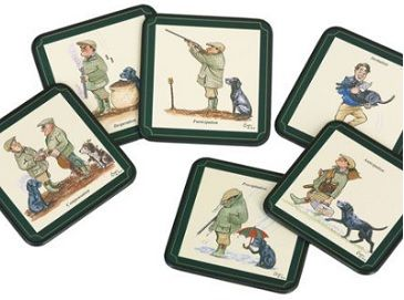 Bryn Parry Shoot Day - Coasters Set of 6 coasters featuring illustrations by Bryn Parry Easy  sc 1 st  Pinterest & 8 best Table Mats u0026 Coaster Sets images on Pinterest   Set of ...