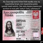 Chrystus nie może być Królem Polski bo...