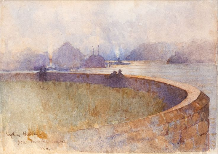 J.J. HILDER (1881-1916)  Sydney Harbour from Fort Macquarie 1904