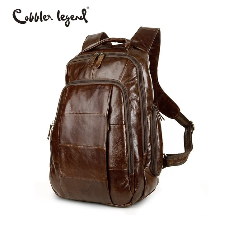 Cobbler Legend Brand 2016 RetroStyle Charming Head Layer Cow Leather Teenage Boys's Men 's Laptop Bag Backpacks For Men #7101805