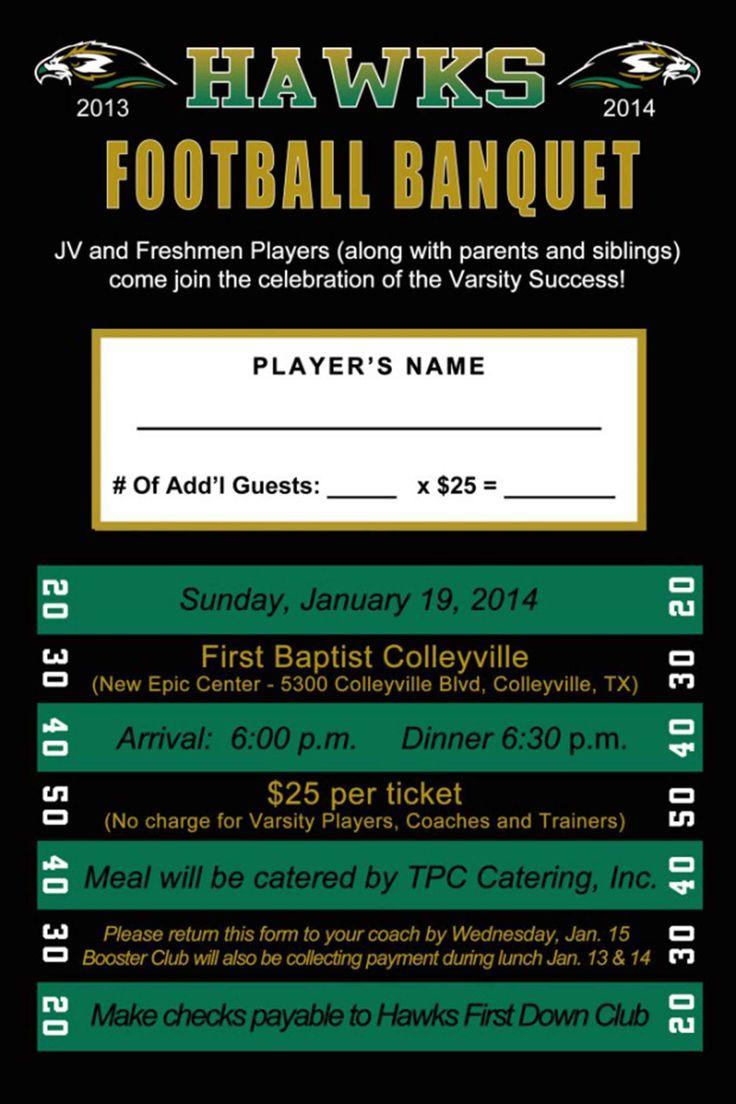 High School Football Banquet Invitations                                                                                                                                                                                 More