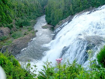 Northern Ontario Waterfall! For more on this area! http://www.gypsynester.com/ontario.htm