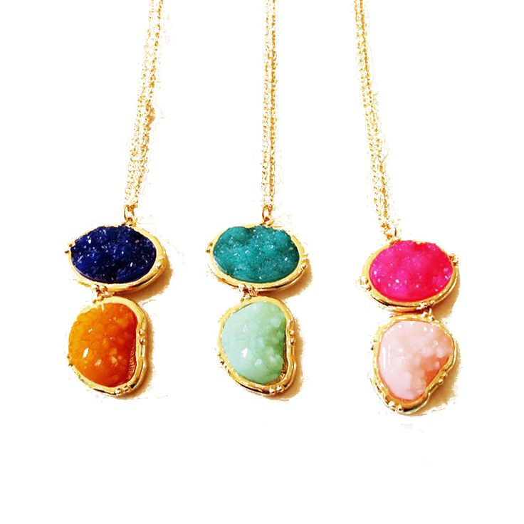 Free Shipping Wholesale Sweet Mixed Color Fashion Pendant Necklace