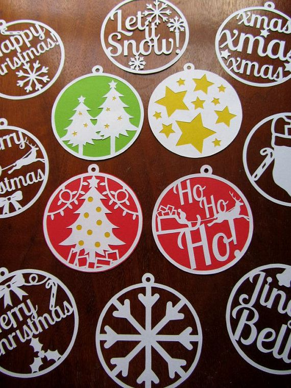 These 12 circular Christmas templates can be printed onto paper and cut out with a craft knife to create beautiful decorations for the tree and home. There are top loops included in the design so that you can string them onto ribbon to hang on the tree. If you remove the hanging loop at the top, they make gorgeous designs to put on Christmas cards. Back them with assorted colours, gold and silver and add glitter to give them a bit of extra Christmas sparkle! The price includes two A4 PDF…