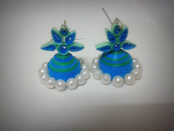 Quilled jhumka for more visit for Big quilling designs
