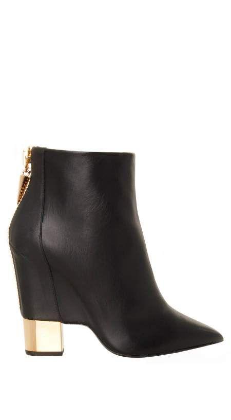 giuseppe zanotti gold heel boots