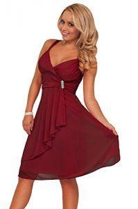 Designer Sexy Empire Waist Prom Cocktail Party Evening Dress H1284 Burgundy Medium (10-12)