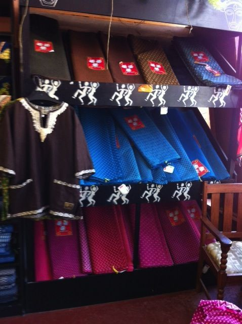 Mnandi Textiles in Observatory, Cape Town. Great destination for shweshwe fabric and ready made garments