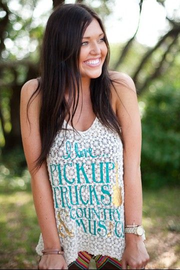 country gal shirt, i like this shirt and it totally describes me.  Gotta love a pickup truck!!