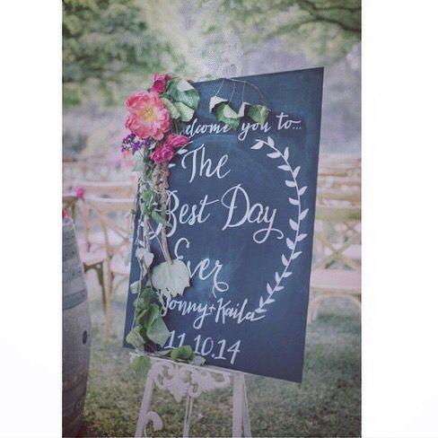 Kaila + Johnny's wedding sign