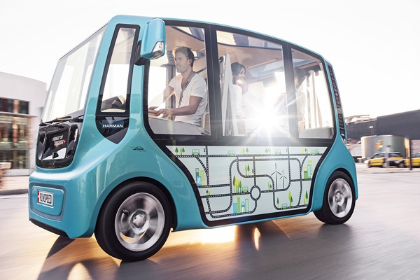 """Rinspeed – Creative think tank for the automotive industry. """"urbanSWARM"""""""