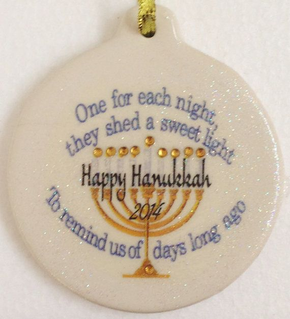 Happy Hanukkah 2014 Menorah Candlelight Porcelain by laurie1g