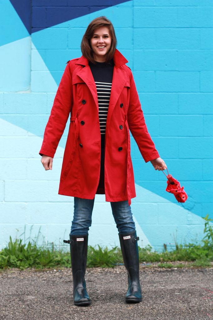 Oooh, I have a red trench, so I really love this. This is a permalink.