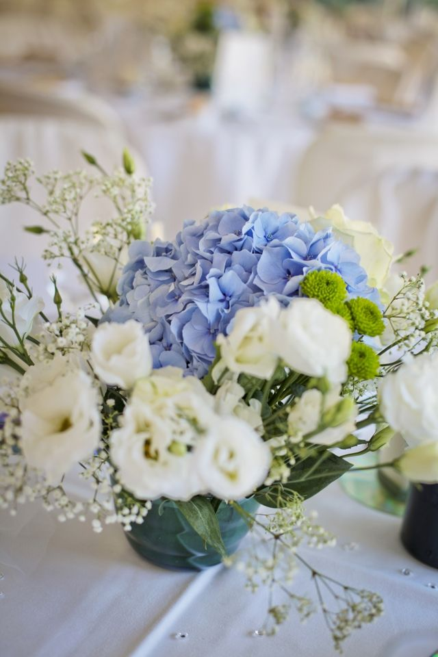 116 best images about d coration mariage champ tre et bleu - Deco table blanc ...