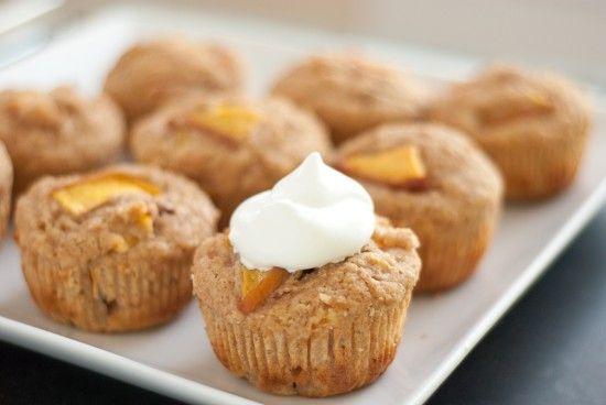 nectarine cupcakes with honey whipped cream