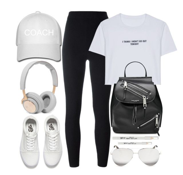 """Work Out Day"" by monmondefou ❤ liked on Polyvore featuring B&O Play, Vans, adidas Originals, WithChic, Marc Jacobs, Victoria Beckham, Barry M, white and black"