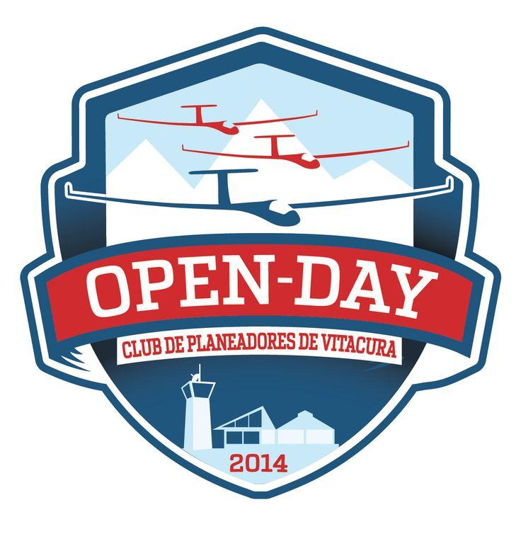 Logo OpenDay2014 Club de Planeadores de Vitacura #logo #sailplane #planeador #openday #stratego #design #graphic