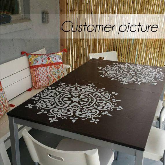 Mandala Style Stencil pochoir meubles peinture par StencilsLabNY