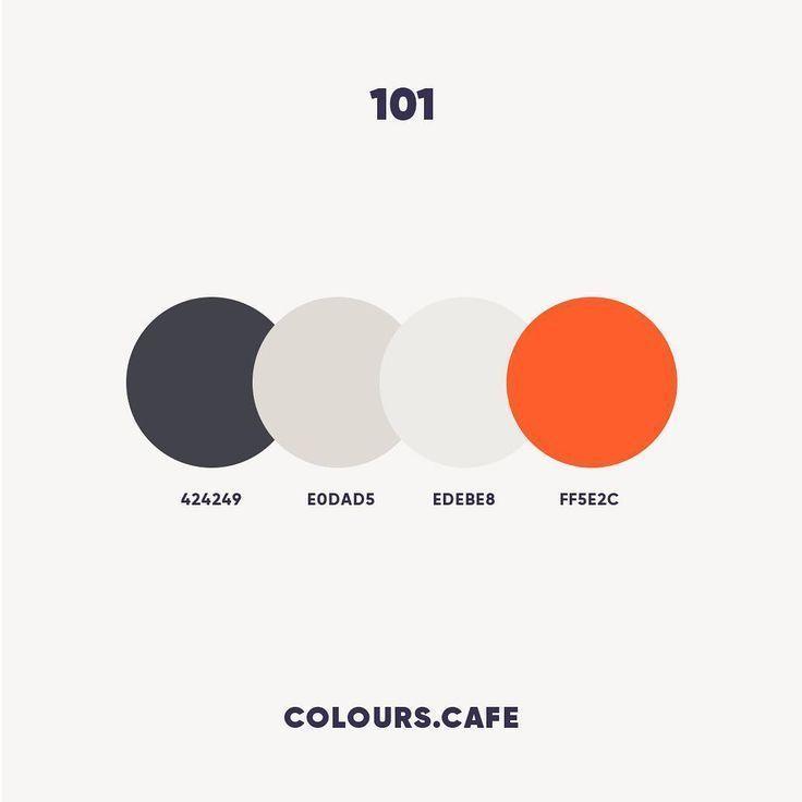 Farben 101 424249 E0dad5 Edebe8 Ff5e2c Farben Farben