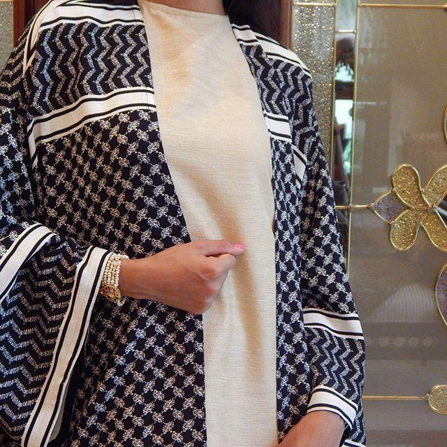 Regal Saudi print Abaya
