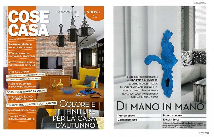 On COSE DI CASA our ROCOCO' POP is present! Enjoy the reading and AT FULL COLOUR!