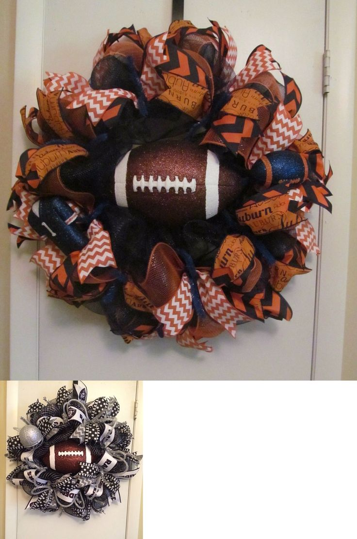 Wreaths 16498: College Or Pro Football Team Mesh Wreath - Handmade -> BUY IT NOW ONLY: $55 on eBay!