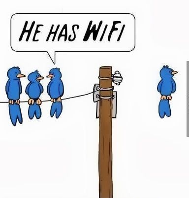 wifi humor | He Has Wi-Fi | From Funny Technology - Google+ Brought to you by http://www.cpscentral.com - Extended Warranty Plans