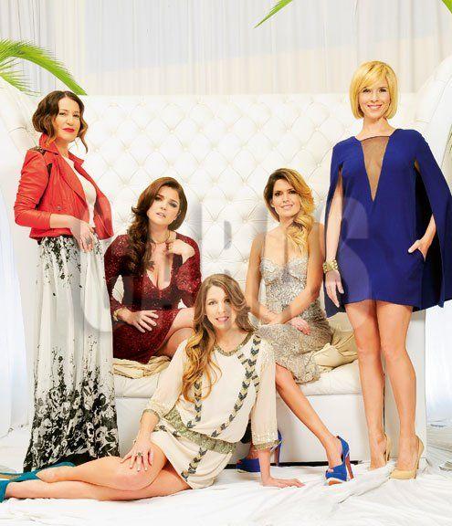 Florencia Bertotti, Araceli González, Mercedes Morán, Isabel Macedo y Carla Peterson.