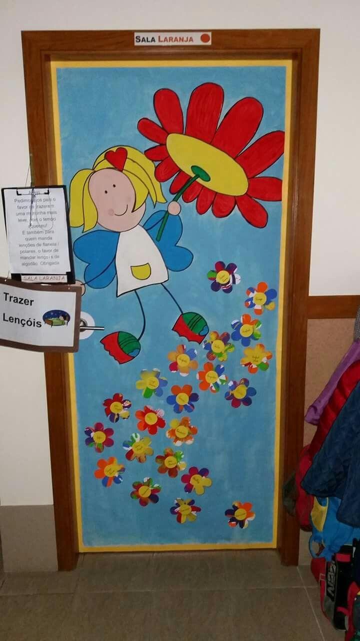 Porta da primavera 8 udaberria pinterest for Puertas decoradas primavera