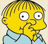 non sequitur: Master of the <b>non sequitur</b>: Ralph Wiggum of <i>The Simpsons</i> (TM and © FOX and its related entities)