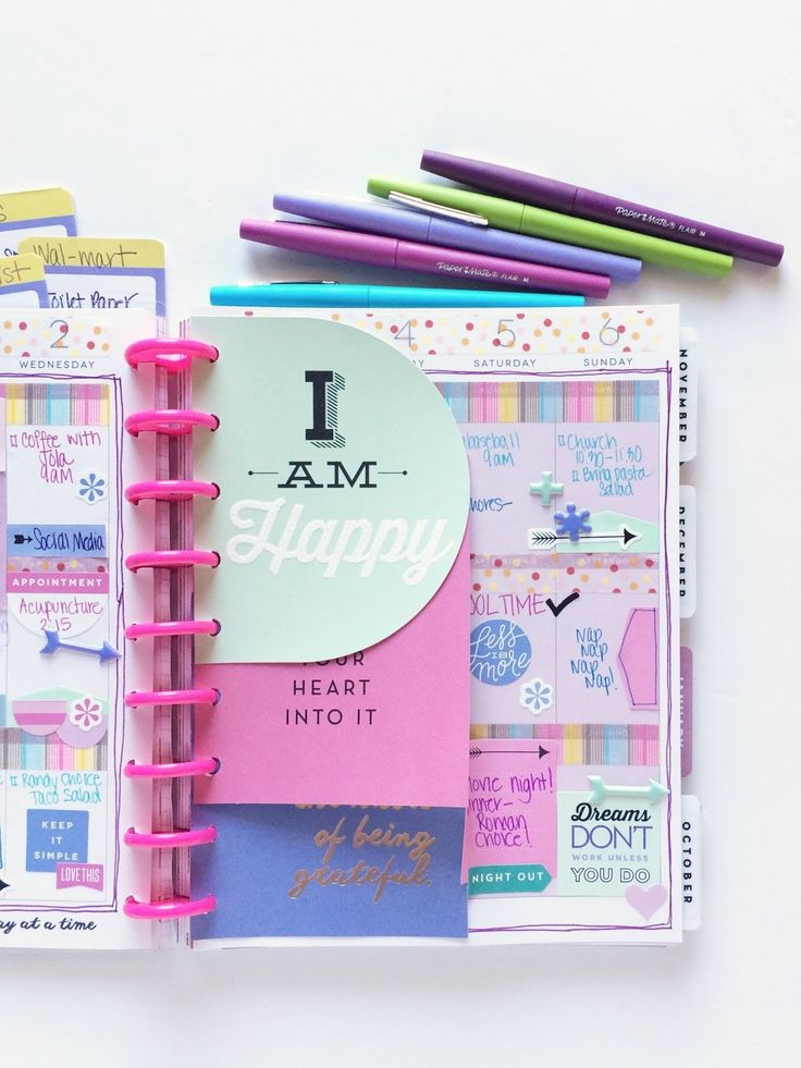 how to set up your filofax