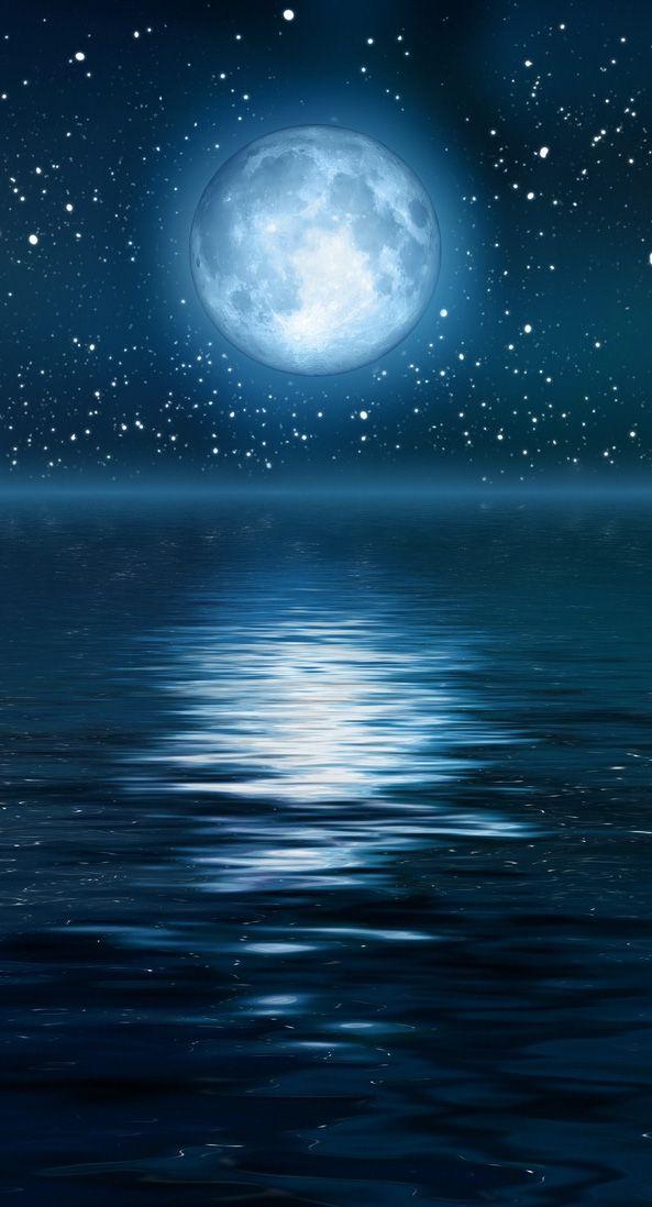 Moon's Reflection   ☾★☾ MOON & STARS ☾★☾   Pinterest