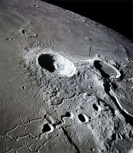 Hubble telescope image of the Moon.