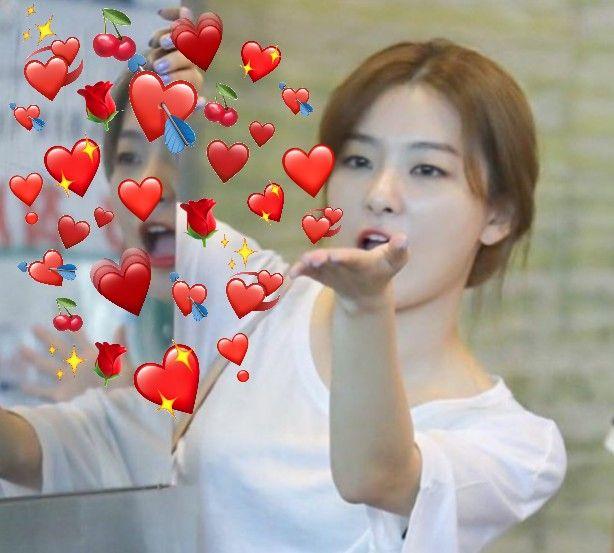 Red Velvet Kpop Seulgi Heart Meme Love With Images