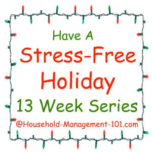 I'm joining this free 13 week series to get ready for the holidays of Halloween, Thanksgiving, Christmas, and New Years, plus clean up after each one.