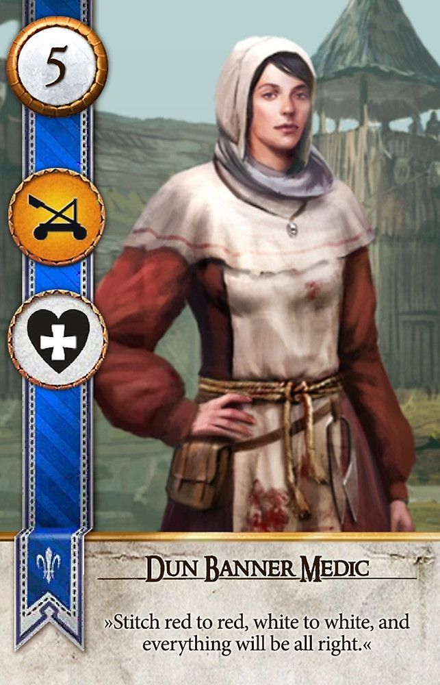 Dun Banner Medic (Gwent Card) - The Witcher 3: Wild Hunt