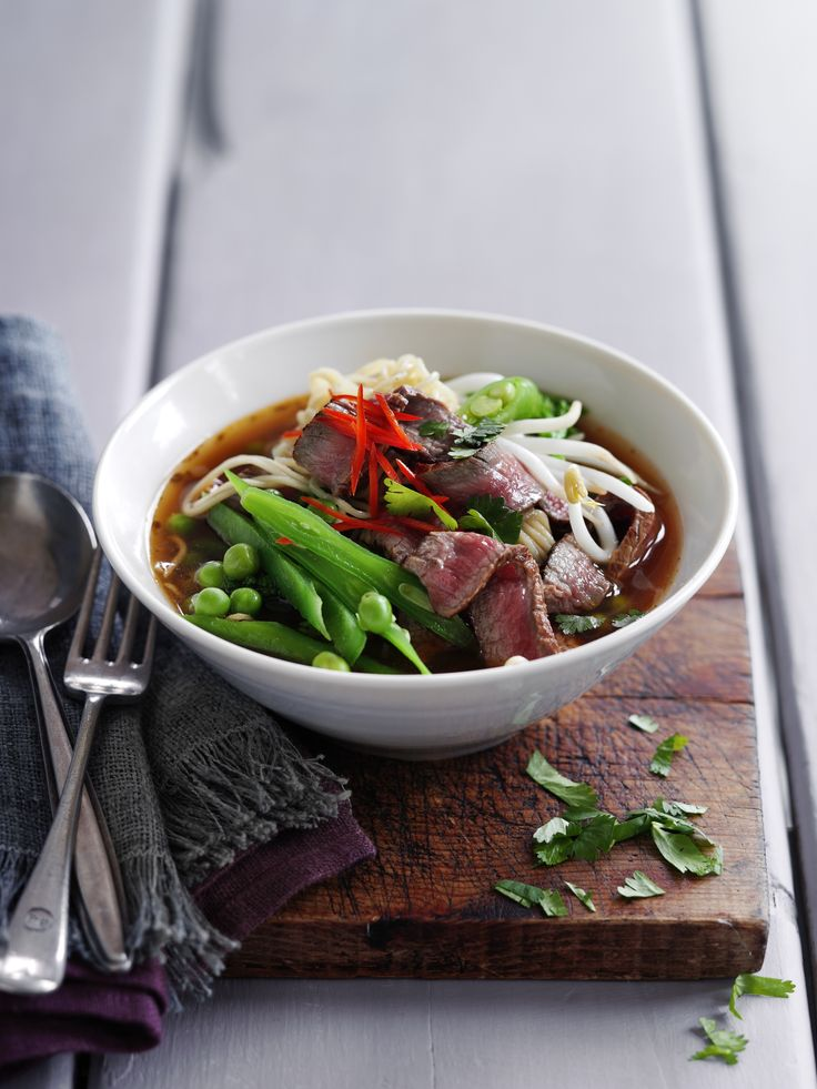 Thai beef noodle soup is a perfect light lunch or dinner