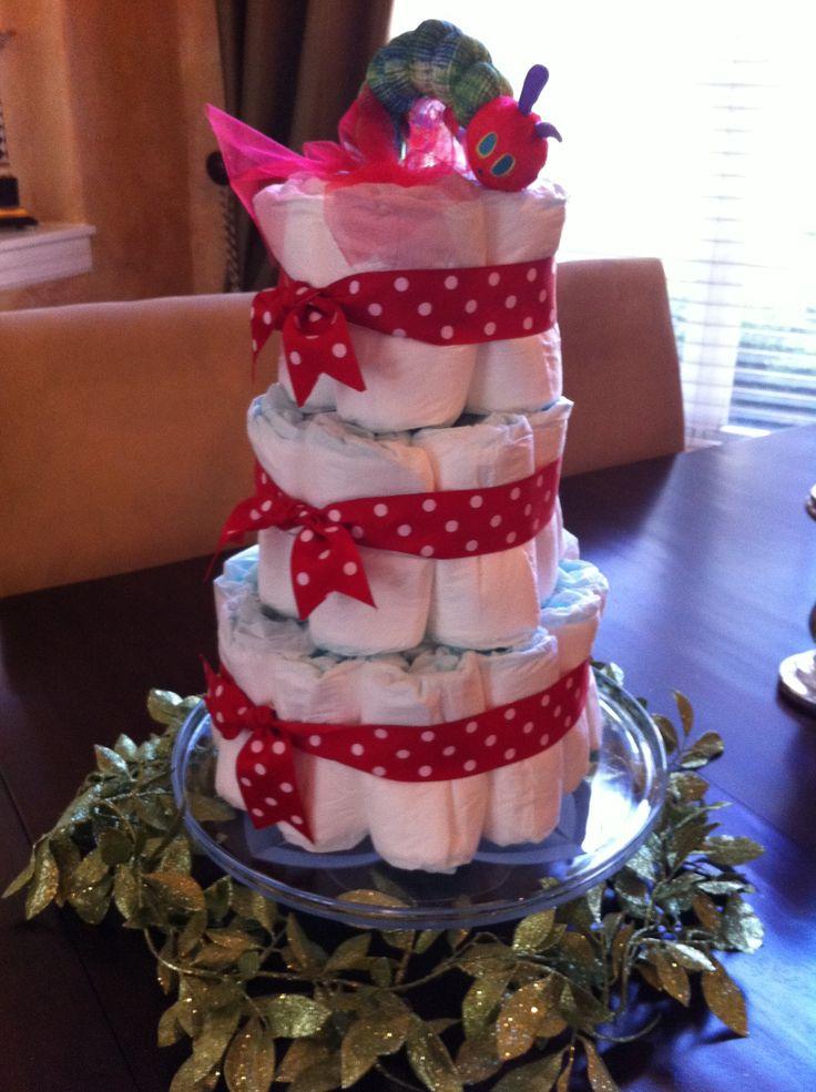 The Very Hungry caterpillar diaper cake