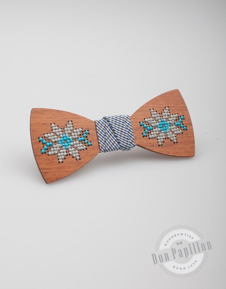 Don Papillon has a special collection of sewed wooden bow ties. Each bow tie is sewed by hand and has a special wood type.