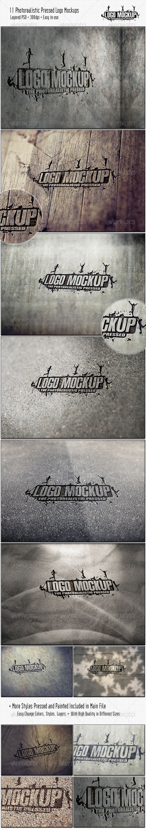 Download PSD: http://graphicriver.net/item/11-photorealistic-pressed-logo-mockups/3709656?ref=behzadg