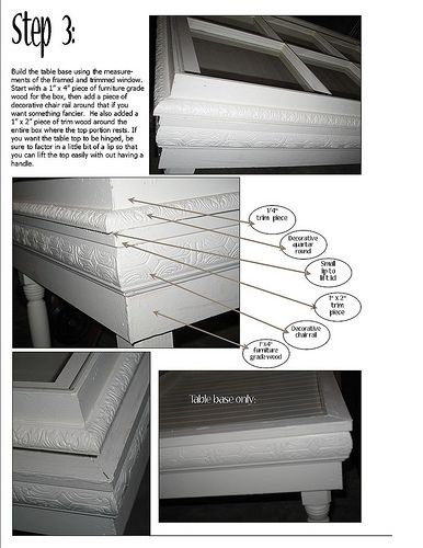 part 2 TUTORIAL: Anatomy of a Window Table - Unskinny Boppy  http://unskinnyboppy.com/2008/09/tutorial-anatomy-of-window-table/