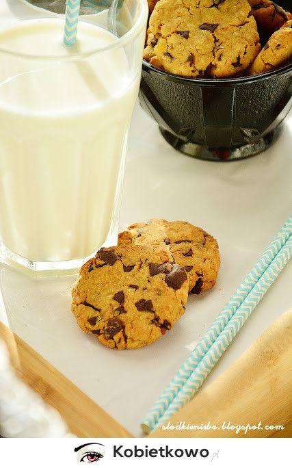 Ciasteczka z ciecierzycy z czekoladą-bez mąki, bez jajek, bezglutenowe [PRZEPIS]