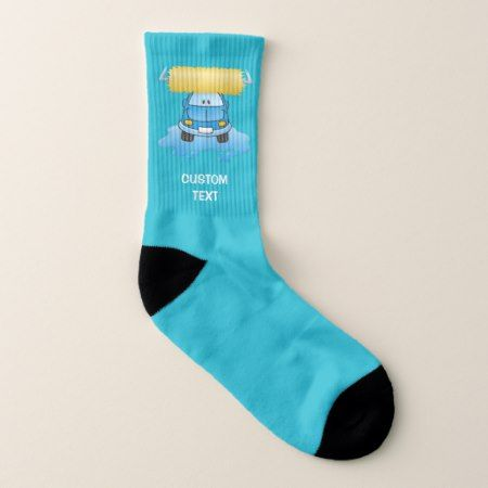 Carwash Cartoon Socks - click/tap to personalize and buy