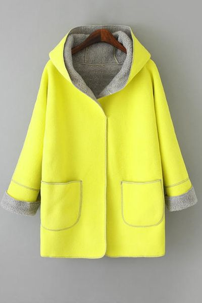 Hooded Fleece Lining Coat